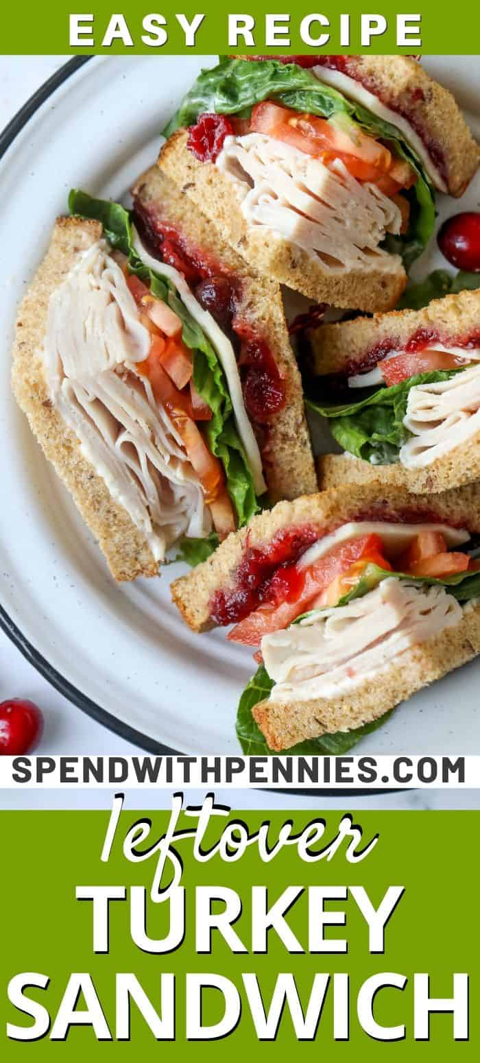 Turkey Sandwich With Cranberry Sauce Spend With Pennies