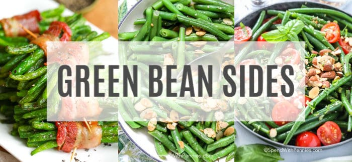 Green bean side recipes with a title