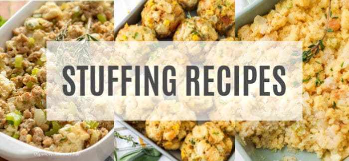 3 photos of stuffing side dish recipes