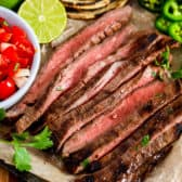 Grilled meat for Carne Asada