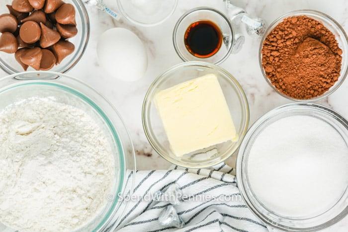 ingredients to make Hershey Kiss Cookies