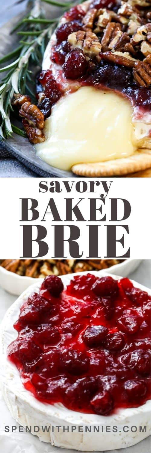 Baked brie with a title