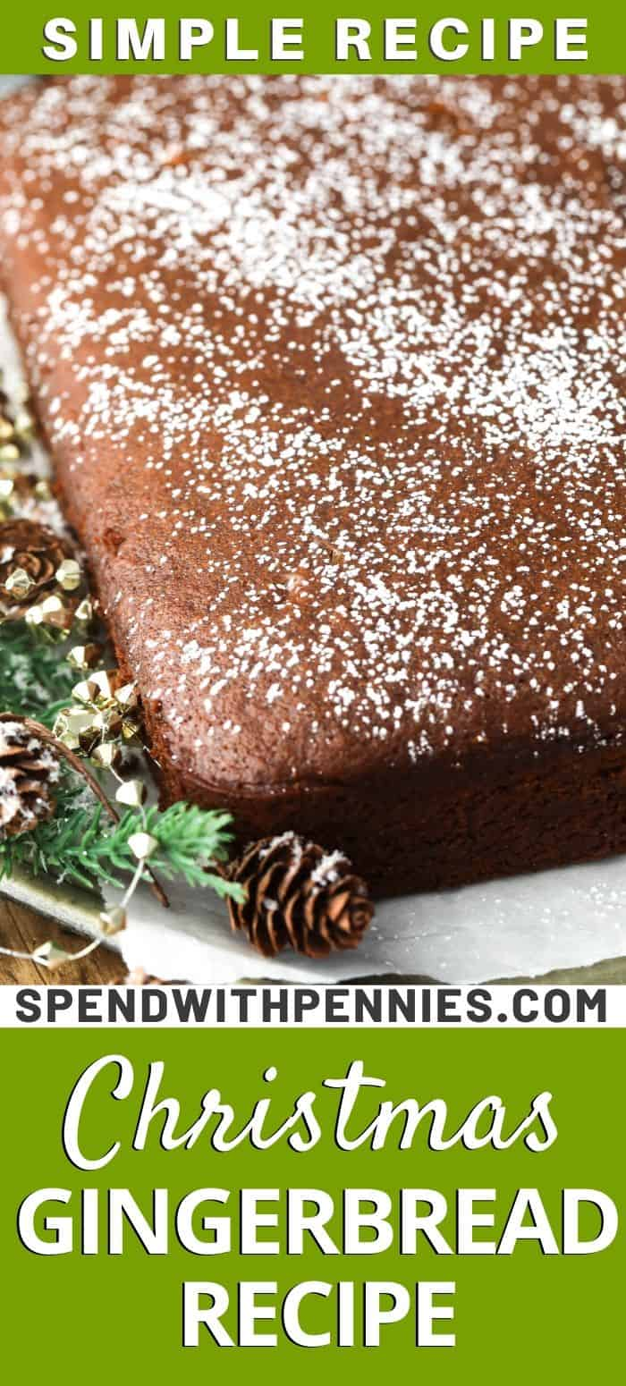 Gingerbread on parchment with writing