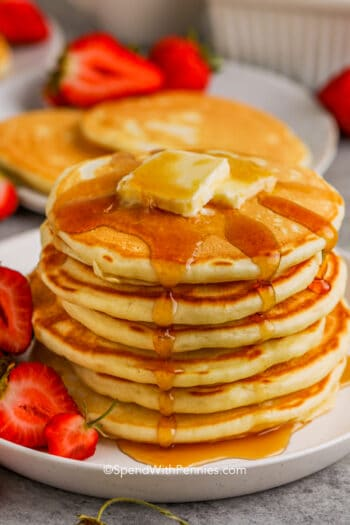 buttermilk pancakes on a plate