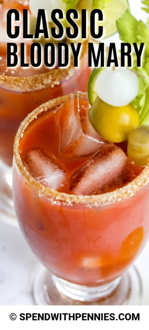 Bloody Mary with a title