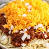 Cincinnati Chili on a plate