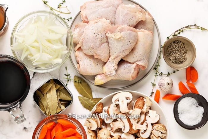 Coq Au Vin Ingredients