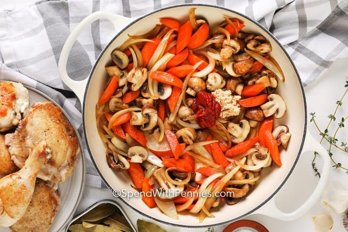 coq au vin sauce ingredients