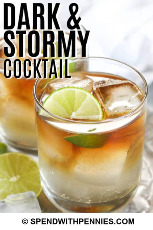 Dark and Stormy with writing
