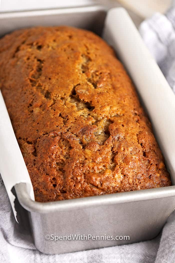 Cooked classic Banana Bread