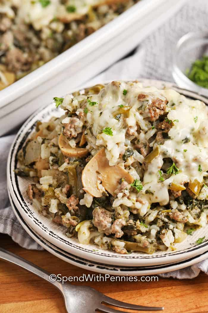Ground Beef And Rice Casserole Easy To Make Spend With Pennies