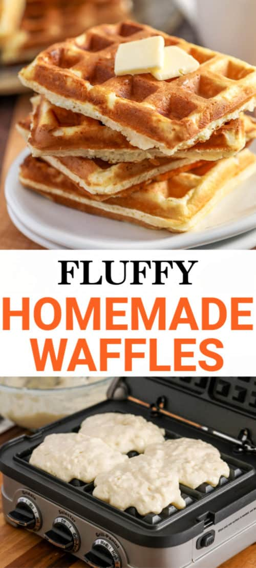 Homemade Waffles with a title