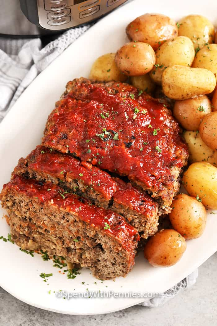 Instant Pot Meatloaf {Ready in under an hour!} - Spend With Pennies