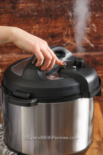 Instant Pot Quick Natural Release with steam