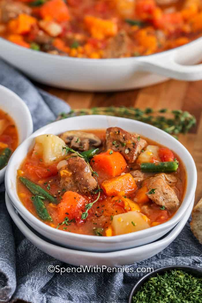 Pork Stew Hearty And Tender Spend With Pennies