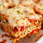 Serving of Roasted Vegetable Lasagna