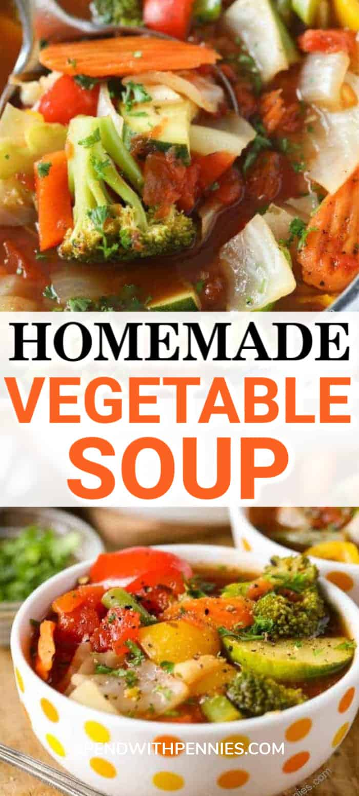 Weight Loss Vegetable Soup in a bowl with writing