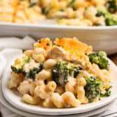 Chicken Broccoli Casserole on a plate