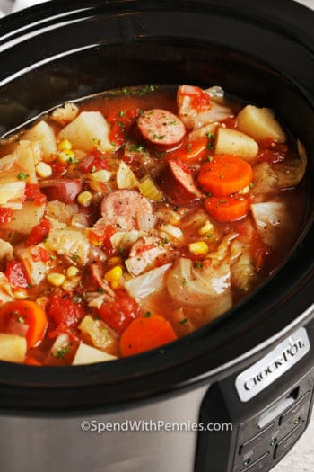 Crockpot potato and sausage soup