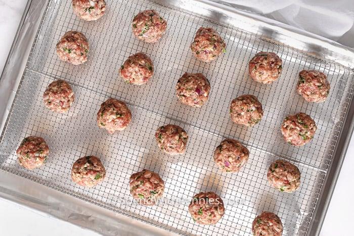 Greek Meatballs on a pan