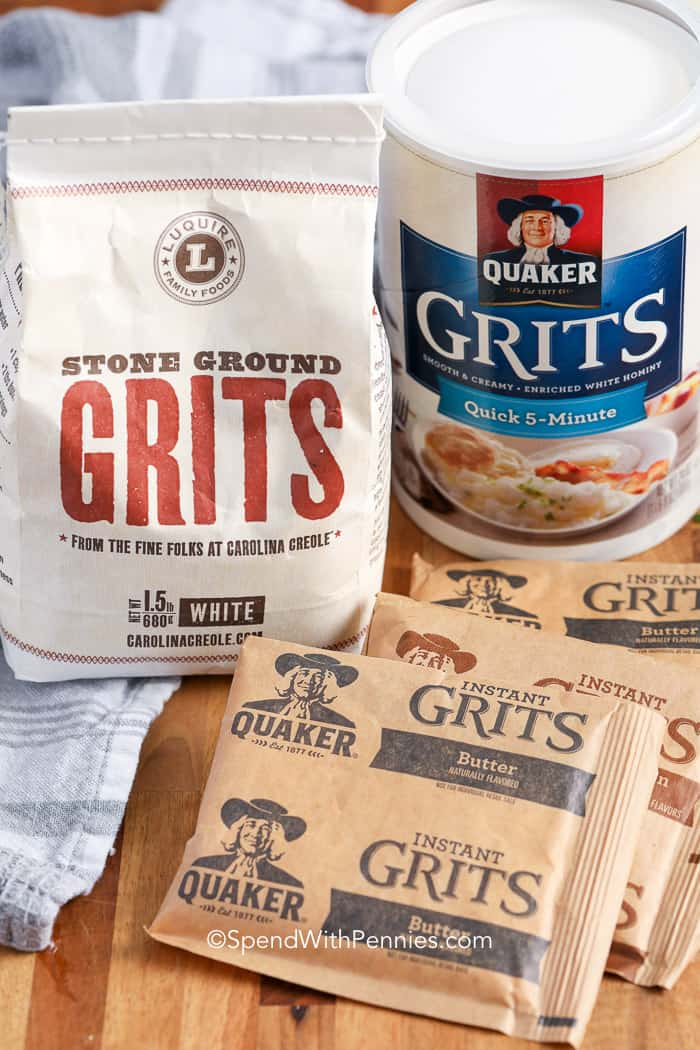 Ingredients for Grits