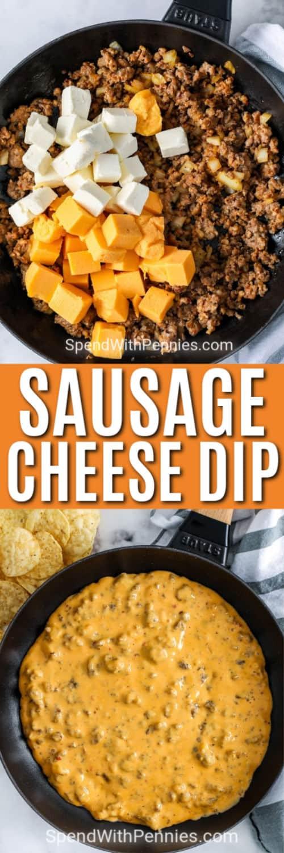 Prepared sausage cheese dip
