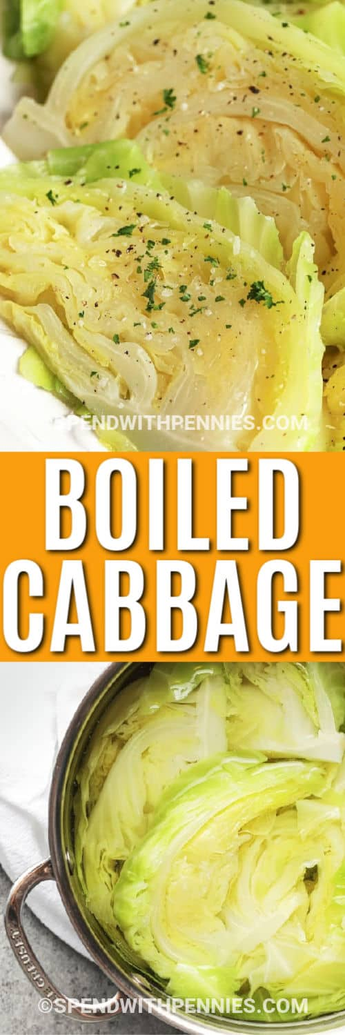 Boiled Cabbage with a title