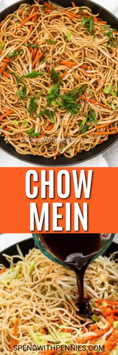 Chow Mein with writing