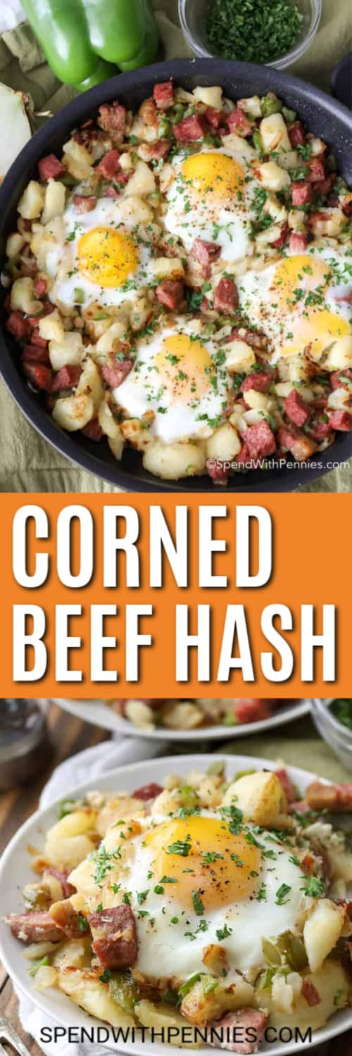 Corned Beef Hash with writing