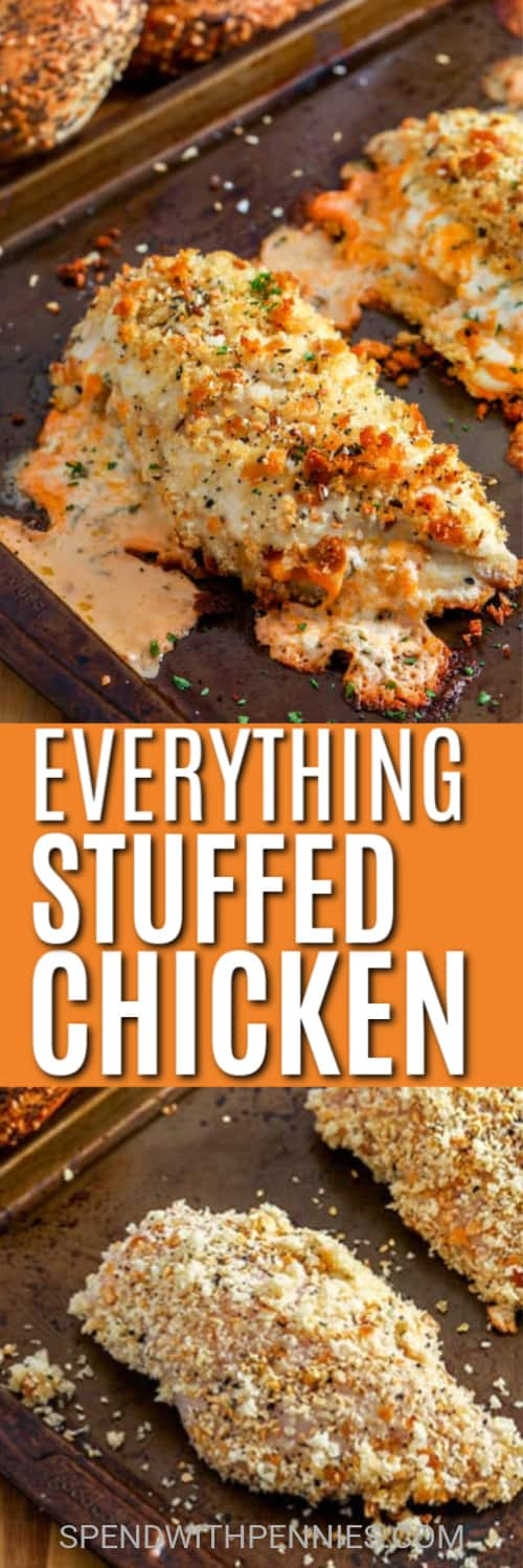 Everything Stuffed Chicken with a title