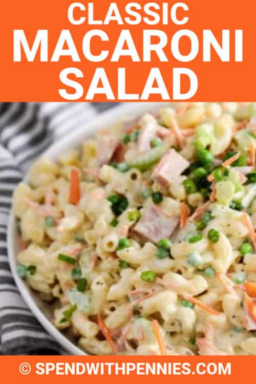 Classic Macaroni Salad with a title
