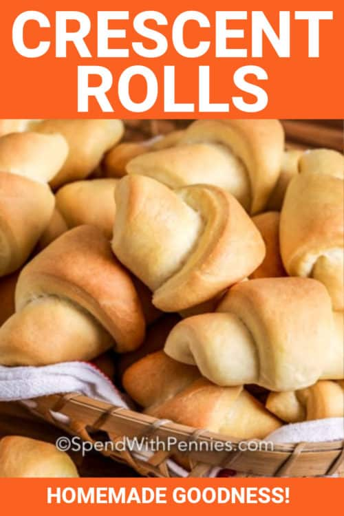 Homemade Crescent Rolls with a title