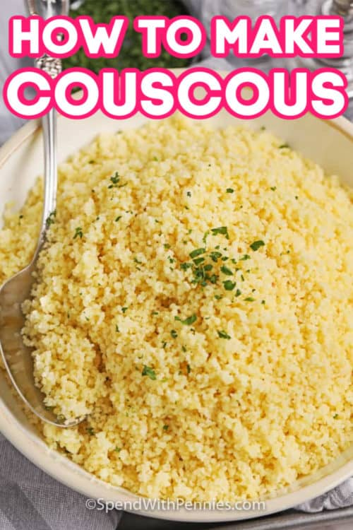 Prepared couscous.