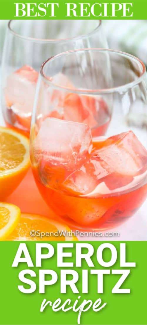 Aperol Spritz with a title