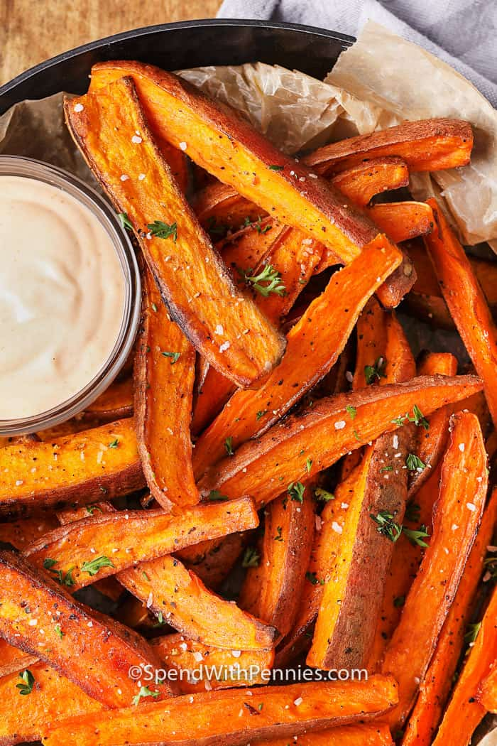 Baked Sweet Potato Fries Oven Baked Spend With Pennies