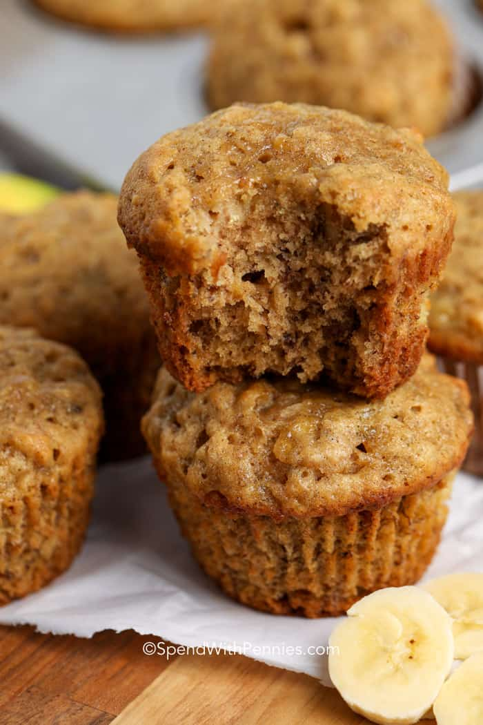 Banana Bread Muffins Easy 30 Min Recipe Spend With Pennies