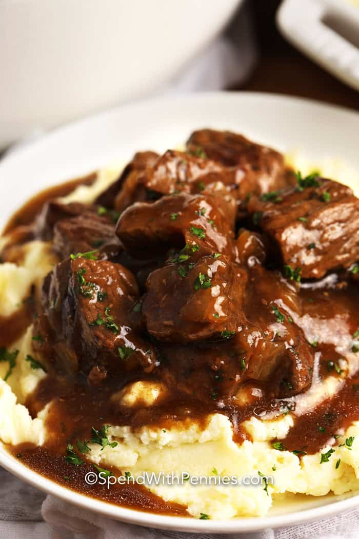 Beef Tips & and rich brown Gravy