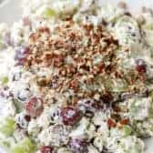 Grape Salad topped with crushed pecans