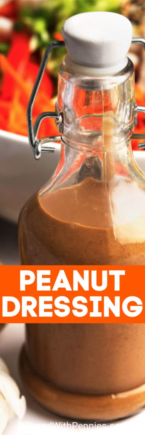 Peanut Dressing with a title