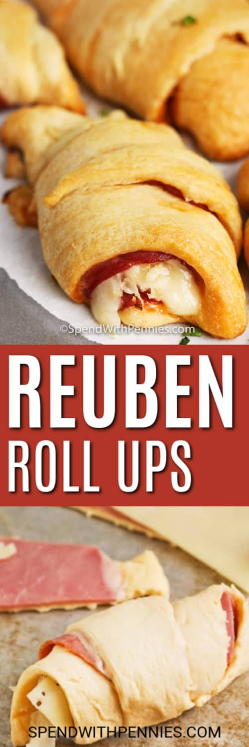 Reuben Roll Ups with a title