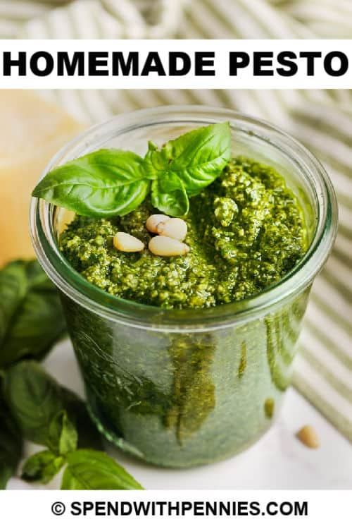 Easy Homemade Basil Pesto Fresh Flavorful Spend With Pennies