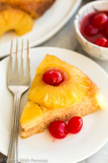 pineapple upside down cake plate