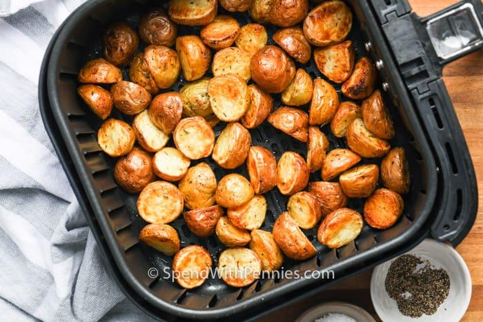Potatoes prepared in an Air Fryer
