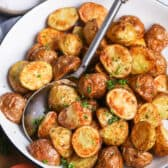 Air Fryer potatoes being served