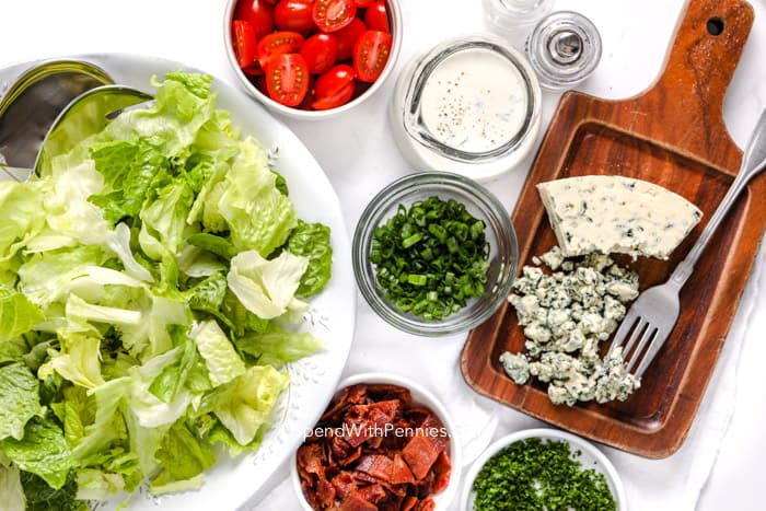 Ingredients for BLT Salad