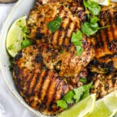 Grilled Cilantro Lime Chicken on a plate