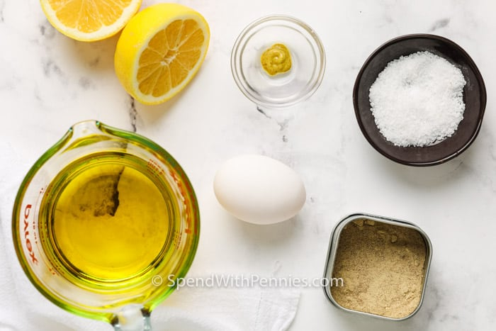 ingredients to make Homemade Mayonnaise