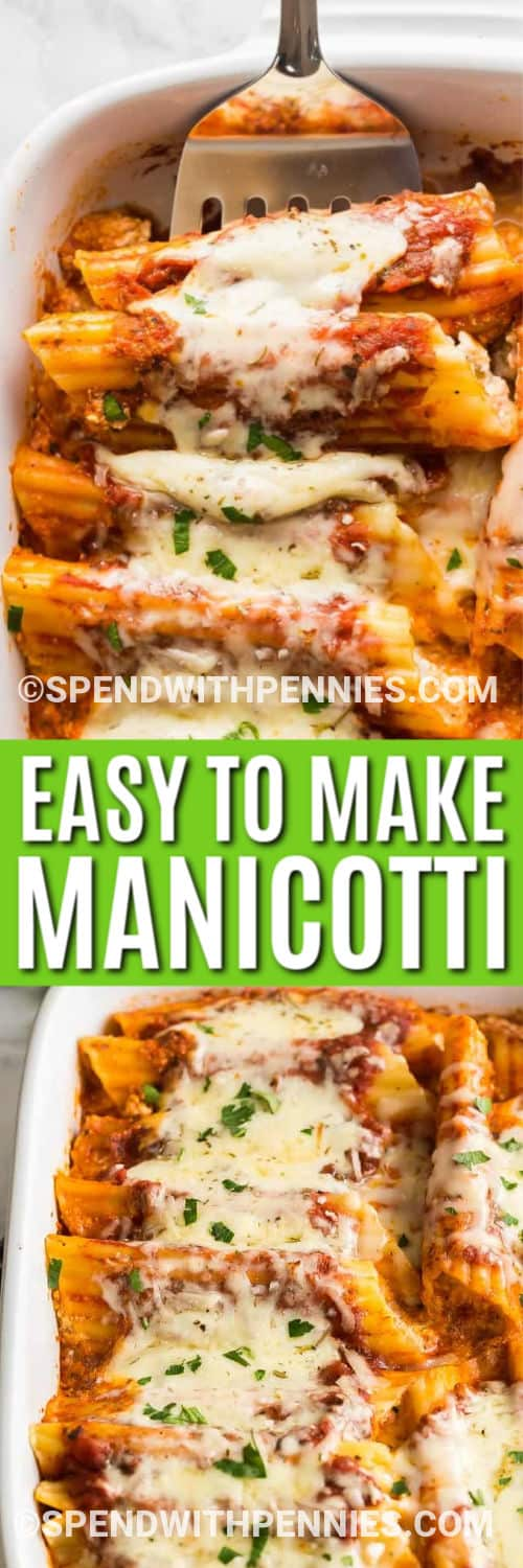 MANICOTTI with title