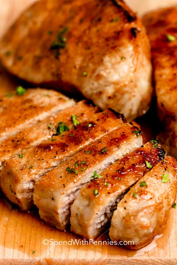 Extra Juicy Baked Pork Chops Perfect Every Time Spend With Pennies
