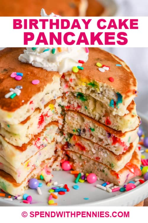 Outstanding Birthday Cake Pancakes Festive Fun Spend With Pennies Funny Birthday Cards Online Overcheapnameinfo